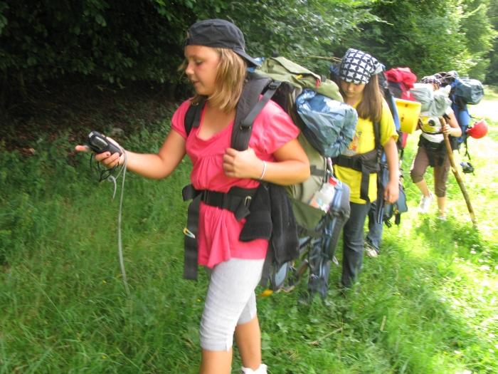 Bild Schüler bei Wanderung
